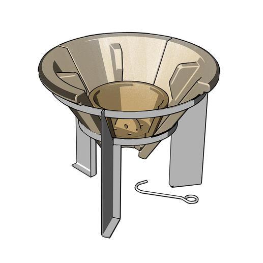 Les cendres se vident très facilement : il suffit de soulever le couvercle du fond avec le crochet fourni pour les faire tomber.