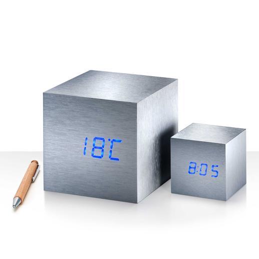 Cube Maxi ou Mini Claquez des doigts... et l'heure, la date, la température s'affichent comme par enchantement.