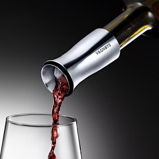Bec verseur aérateur Vagnby Muni d'un bec anti-goutte utilisable à 360°, d'un filtre et d'un joint étanche.