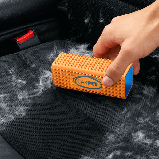 Brosse à poils CarPet™ - Aucun poil n'échappe aux picots en caoutchouc parfaitement serrés.