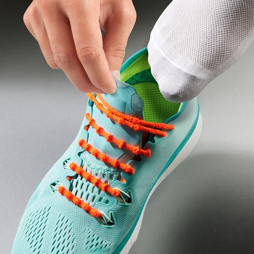 Système de laçage Xtenex - Enfilez ou ôtez vos chaussures sans les lacer. Testé avec succès dans le domaine du sport professionnel.
