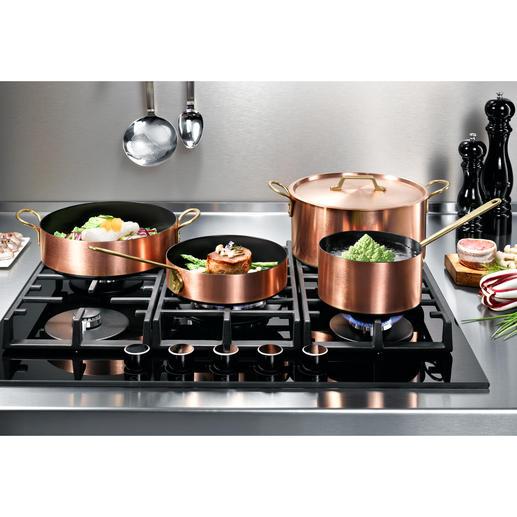 Induction Casseroles en cuivre Les excellentes propriétés thermiques du cuivre & la rapidité/précision des plans de cuisson modernes.
