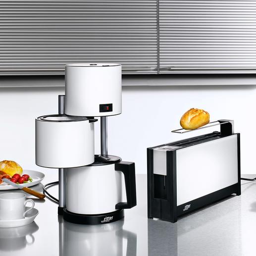 Set petit déjeuner de ritter Design épuré au style Bauhaus. Électroménager maintes fois primé. Made in Germany.