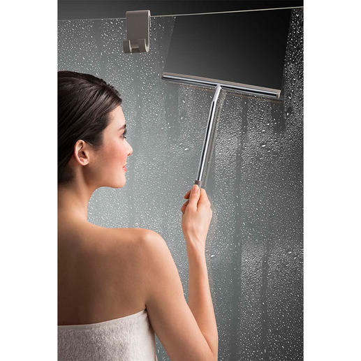 Raclette de douche XL avec crochet en silicone Plus besoin de se pencher ou d´allonger le bras.