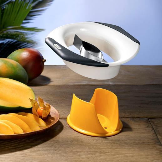 Trancheur et éplucheur à mangue Zyliss® Dénoyauter, éplucher et trancher des mangues, ... aisément, rapidement et proprement.