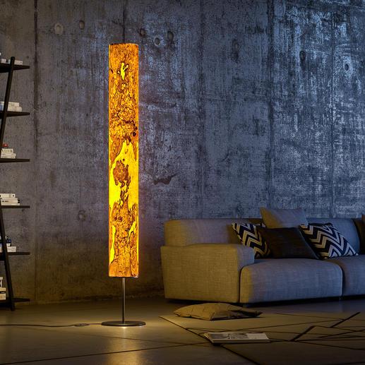 Lampe design en bois véritable - Un travail artisanal unique, pour mettre en lumière l'âme des bois précieux.