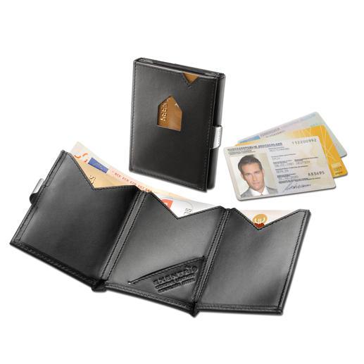 Portefeuille Exentri® Smart Wallet - L'étui à cartes avec double accès rapide. Se range dans une poche de pantalon ou de veste.