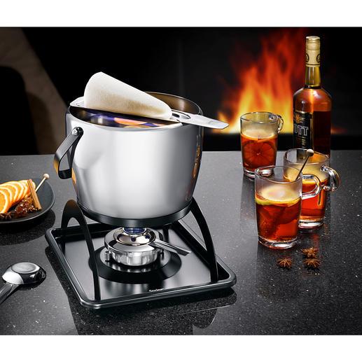 Feuerzangenbowle Spring Ce beau lot à punch et vin chaud «Feuerzangenbowle» est également le meilleur. En acier inox.