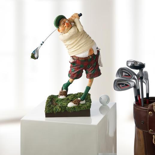 Figurine Forchino « Golfeur » L'art de mettre en image la passion du golf.