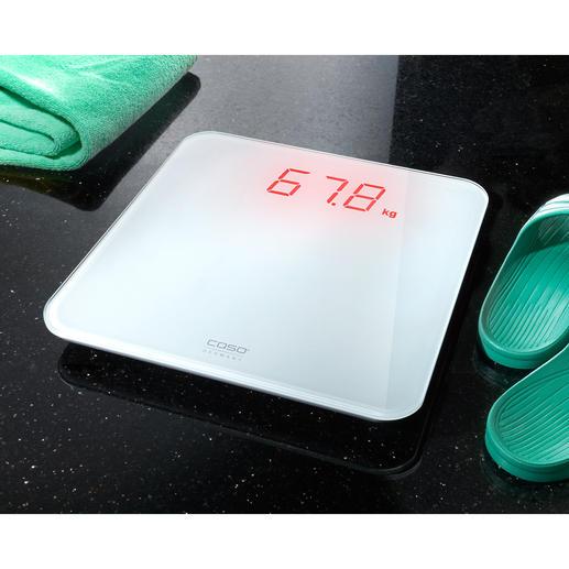 Pèse-personne Caso BS1 Aisément lisible, même de loin. Mesure votre poids de façon précise. Même sur une moquette.
