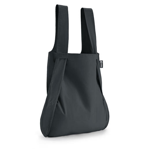 Sac polyvalent 2-en-1 « Notabag » - À la fois sac shopping pliable et sac à dos. Se range dans la plus petite poche de veste.