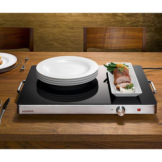 Plaque chauffante professionnelle Gastroback XXL Servir avec style : avec cette plaque chauffante élégante au format gastronomie.