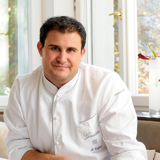 Klaus Erfort, chef de Cuisine du «Gästehaus Klaus Erfort» de Saarbrücken (Allemagne), 3 étoiles au Michelin et 19,5 points au Gault Millau.
