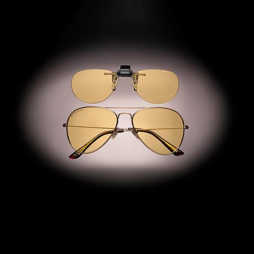 Lunettes ou Clip lunettes de conduite de nuit Eagle Eyes® Enfin une vue améliorée lorsque vous conduisez la nuit. Par Eagle Eyes®, USA.
