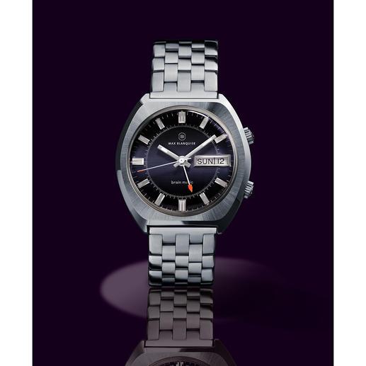 Montre-bracelet réveil Blanquier « 1973 » Objet rare pour collectionneurs : avec véritable mouvement & boîtier des années 70. Edition limitée.