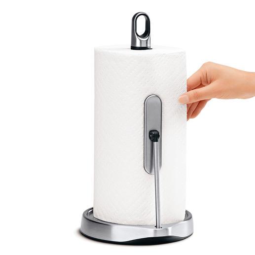 Dévidoir essuie-tout à une seule main D'un seul geste, la quantité désirée d'essuie-tout.