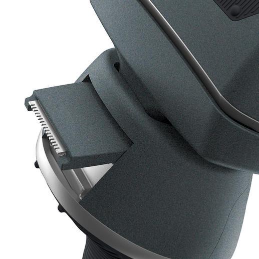 La tondeuse de précision est coulissante et permet de dessiner des contours nets et précis.