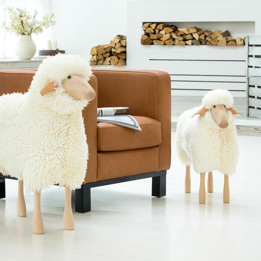 Moutons grandeur nature - Objet design, assise, compagnon domestique : sculptures « moutons » grandeur nature.