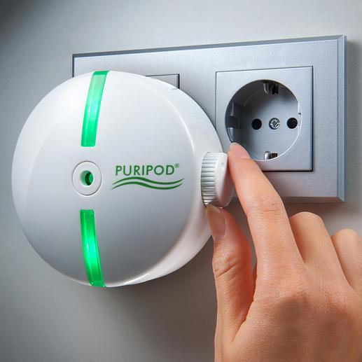 Purificateur d'air ionique Puripod® Un air propre là où vous le désirez. A la maison ou en déplacement.