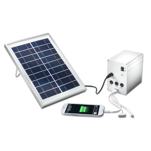 Lampe solaire et système de rechargement portables Dans la jungle, en mer ou pour le camping ... Votre station solaire portable fournit courant et lumière.