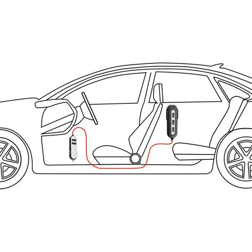 Avec le chargeur de voiture, vous fournissez de l'énergie à 5appareils nomades en simultané, pour les sièges avant comme pour les sièges arrière.