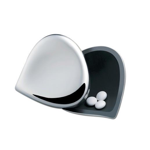 L'intérieur en résine thermoplastique noire permet de repérer aisément les pilules.