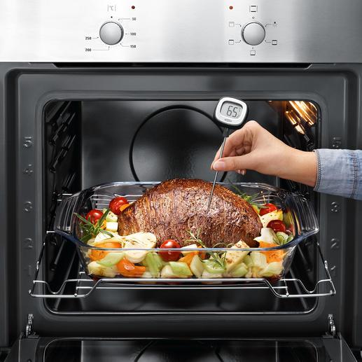 Thermomètre de cuisine avec écran inclinable Le thermomètre de cuisine nouvelle génération : plus rapide, plus sensible et plus lisible.