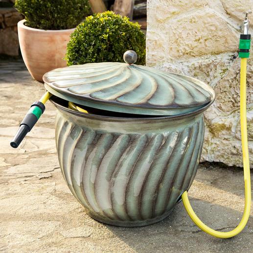 Jardinière range-tuyau « Ritu » Une place attitrée pour votre tuyau d'arrosage, qui ne passe pas inaperçue.