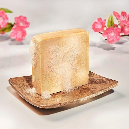 Savon au lait, lot de 2 pièces, 2 x 125 g Une sensation comparable à un bain de lait. Fabriqué à la main et 100 % sans aucun parfum.