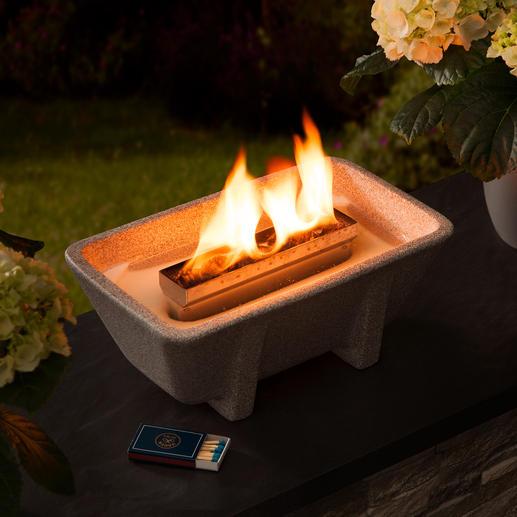 Schmelzfeuer® XL Granicium® Un éclairage romantique à la bougie, mais puissant et résistant au vent.