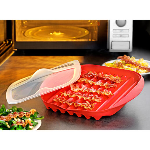 Coupelle à bacon pour micro-ondes Il n'a jamais été aussi simple et rapide de cuire du bacon croustillant.