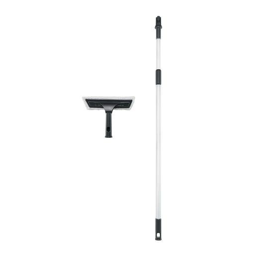 Avec les rallonges télescopiques pour le nettoyeur aspirateur, vous pouvez atteindre sans souci des hauteurs de travail allant jusqu'à 4 m.