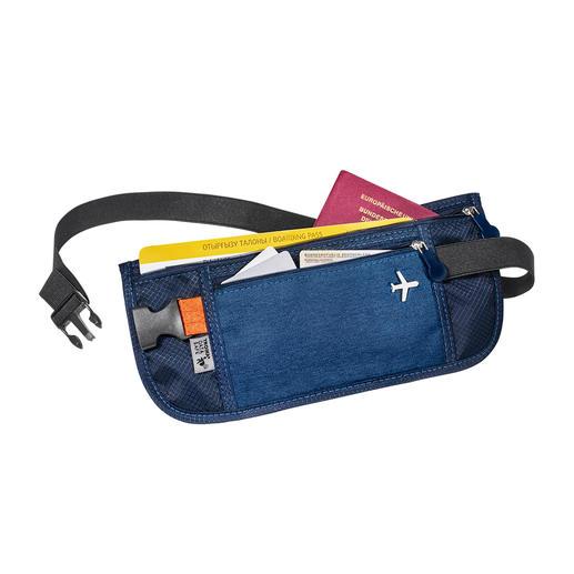 Organiseur de voyage ou Pochette de ceinture RFID Voyagez en toute sérénité : vos billets, cartes, papiers d'identité et devises sont rangés en toute sécurité, à portée de main.