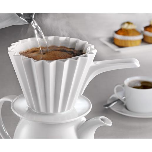 Filtre à café thermique Maintient mieux la température et extrait parfaitement tous les arômes du café. Par KPM, Berlin.