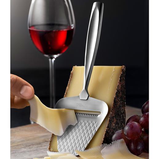 Râpe à fromage Boska Monaco+ - Glisse encore plus facilement, coupe de fines tranches de fromage à pâte dure sans que rien n'adhère.