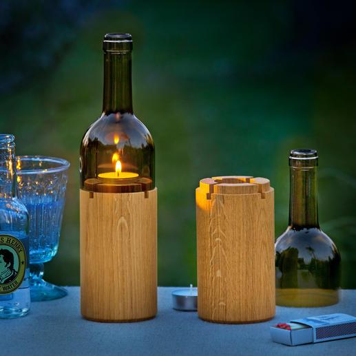 Photophore « vin » - Un superbe éclairage d'ambiance, pour un dîner aux chandelles sur le balcon ou la terrasse.