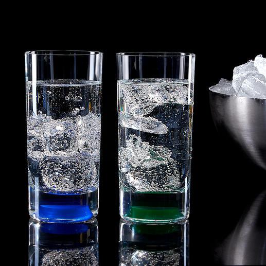 Un simple effleurement suffit à illuminer vos boissons grâce aux LED lumineuses.