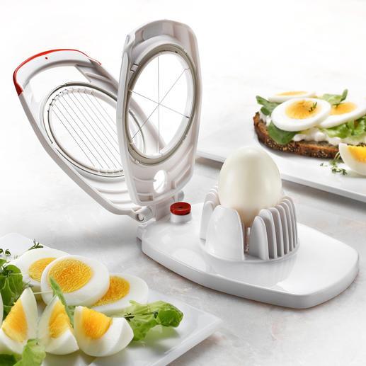 Coupe-œuf Zyliss® Duo Les fils coupent votre œuf dur en 8 tranches fines, parfaites pour le sandwich