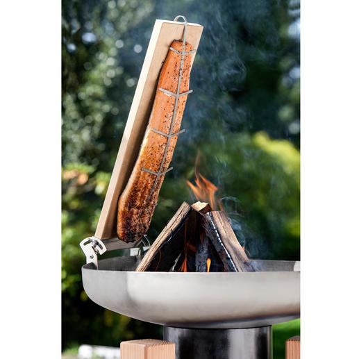 Set pour saumon fumé, planchette de remplacement incluse - Du saumon cuit à la flamme comme en Finlande, préparé par vous-même.