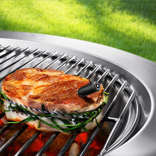 Thermomètre sans fil pour cuisine et grillades - À commander aisément et directement via le smartphone et/ou la tablette.