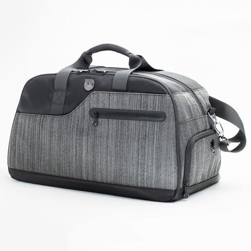 Au lieu de trois sacs différents, un seul modèle pour le bureau, le sport et le voyage. Compact, parfaitement organisé, résistant aux intempéries. Avec de nombreux extras.