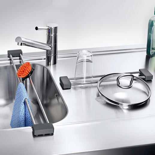 drip.line Pour sécher votre lavette ou poser vos ustensiles de cuisine à proximité de l'évier.
