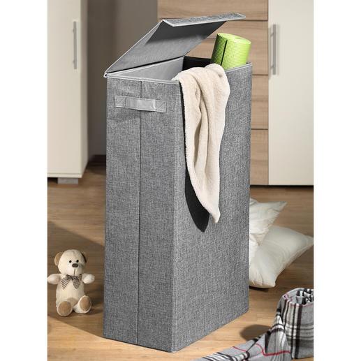 Boîte de rangement « gain de place » - Pour faire « disparaître » élégamment le linge sale, les coussins de chaises, les jouets, les affaires de sport ou de bricolage …