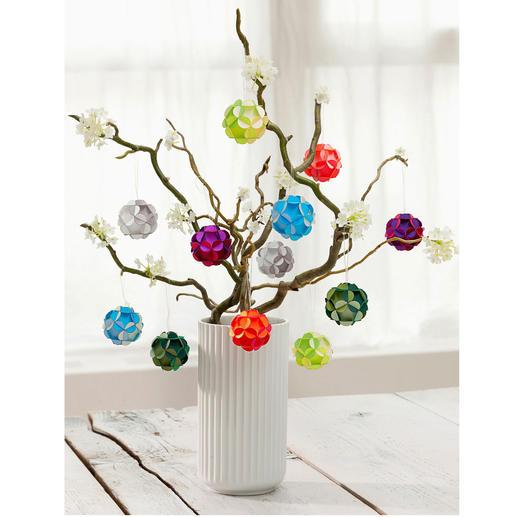 Boules florales, lot de 12 pièces - Une déco spectaculaire tout au long de l'année. Chaque pièce est soigneusement fabriquée à la main.