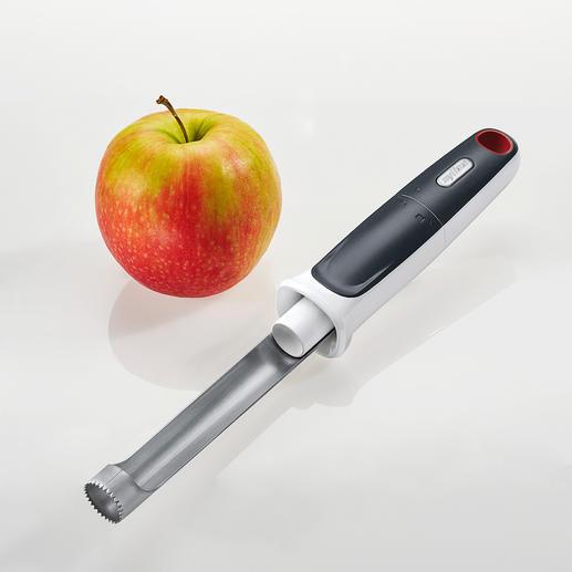 Vide pommes Zyliss Le vide pommes amélioré, avec poussoir intégré.