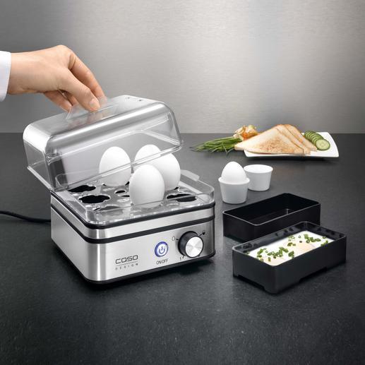 Cuiseur à œufs électronique Pour cuire jusqu'à 8 œufs, exactement à votre goût.