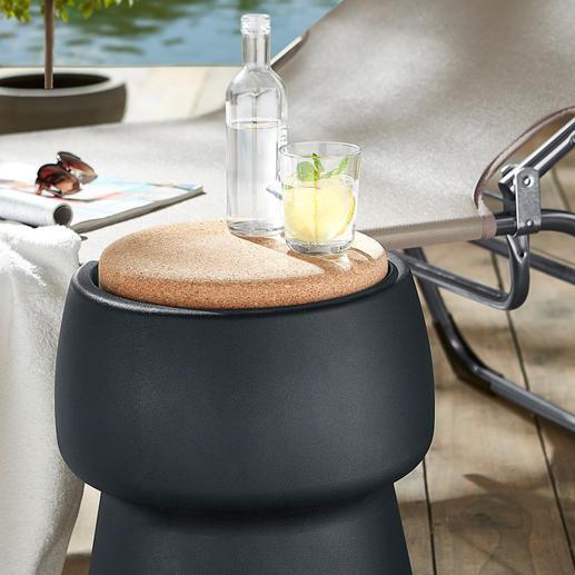 Siège/rafraîchisseur Champ stool/cooler Un élégant objet déco et un siège d'appoint confortable qui renferme un espace de rangement intérieur de 15 litre.