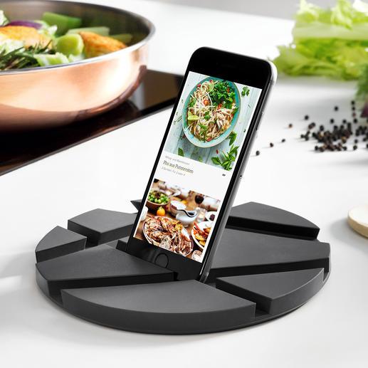 Support « SmartMat » Nouveau support pour tablettes à poser dans la cuisine : encombrement minimal et polyvalence.