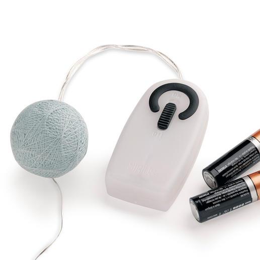 Activez les LED par télécommande– fonctionne sur piles, sans câble gênant.