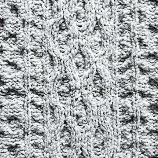 Plaid en tricot Aran Irelands Eye